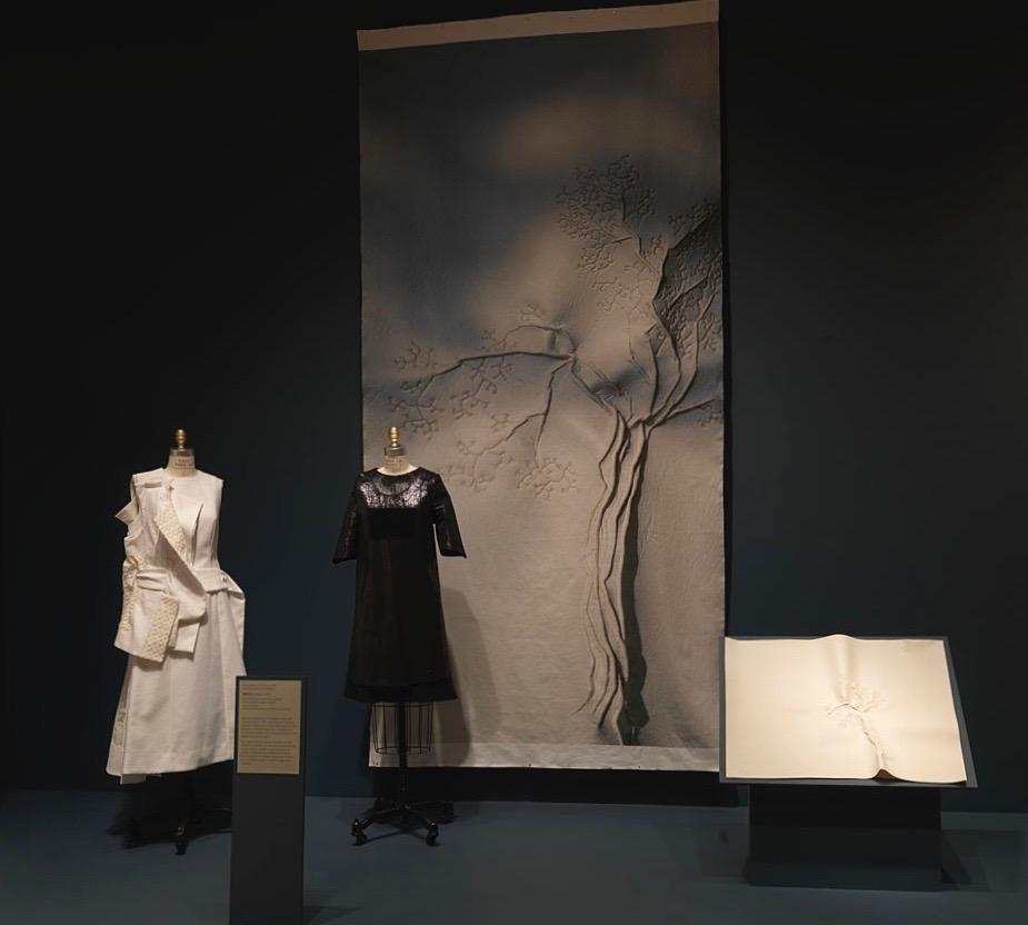 Evolution Revolution Exhibition digitale print textiel interieurproject Universiteit Utrecht driessenenvandeijne